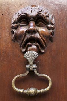 detail of door in Grasse (s. France)