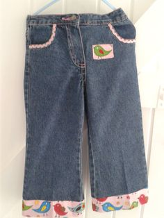 BABY BLUES 'Pink birds' Jeans 2-3 YRS £12.00