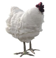 Betty -- chicken footstool! awesome!