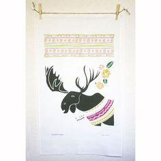Moose Tea Towel by Leah Duncan $19