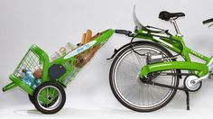 All-Terrain Grocery Cart Doubles As a Trailer Turning Rental Bikes Into Pickup Trucks