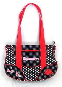"""Tasche """"Rockabilly"""" (Schnabelina Bag small) von IRDEN auf DaWanda.com"""