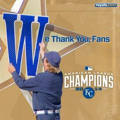 Here's to the best fans in baseball! Thank you, Royals fan, for your continued support!