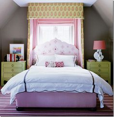 cute girl's bedroom with canopy