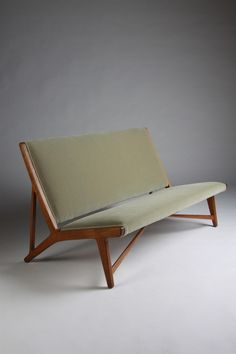 Sofa, designed by Hans Wegner for Johannes Hansen, Denmark. 1950s.