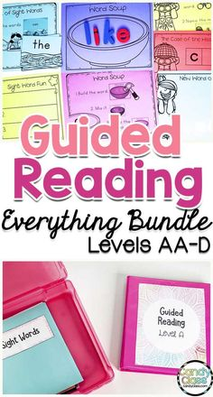 Learn how to teach a guided reading lesson and find all the guided reading tools to get the job done. Just add the emergent readers! From sight word activities during prereading to reading prompts during independent reading to word work activities, you will be more than covered all year to teach levels AA to D. This mega bundle also includes reading strategies in anchor chart and poster formats, performance assessment checklists, phonemic awareness activities, and more. It's very comprehensive!