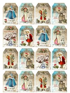 Christmas mini labels