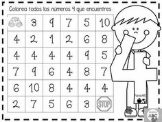 Kindergarten Math Activities, Free Preschool, Preschool Classroom, Preschool Worksheets, Preschool Activities, Numbers Preschool, Learning Numbers, Teacher Binder, Teacher Hacks