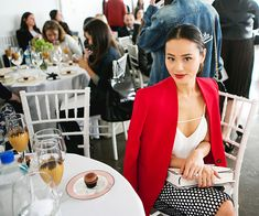 Jamie Chung's Bridal Fashion Week Diary - Showtime from #InStyle