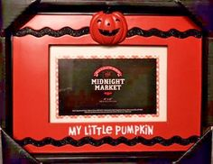 "Halloween 4""X 6"" Photo Frame by Midnight Market - My Little Pumpkin New in Box #MidnightMarket #Halloween"