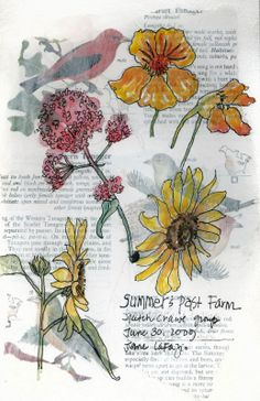 JaneVille: Tiny Tutorial: Layered Journal Page -using printed pages and water color in your journal pages