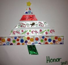 easy Christmas crafts ... like this one, a Ribbon Tree