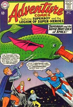 The Super Moby Dick of Space shocks Lightning Lad, who lost an arm to the creature.
