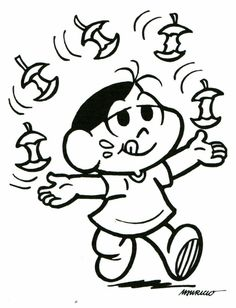 desenhos para colorir turma da monica magali Coloring Books, Coloring Pages, Decoration, Comic Art, Disney Characters, Fictional Characters, Minnie Mouse, Alice, Comics