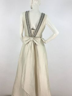 60s Wolf. H Busse gown 1960s evening gown 60s embellished