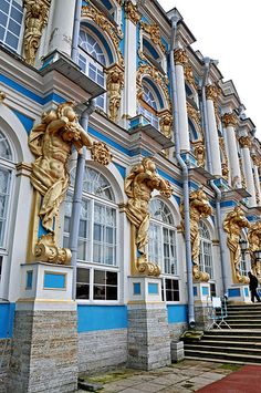 Atlantis Columns, Catherine Palace (Tzarskoje Selo), Pushkin, Russia