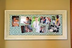 clothespin picture frame (black and white pictures)