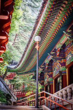 단양 구인사와 사람들....그리고 단청 : 네이버 블로그 South Korea Seoul, South Korea Travel, Space Architecture, Historical Architecture, Roof Detail, Buddhist Temple, Buddhist Art, Korean Art, Korean Traditional