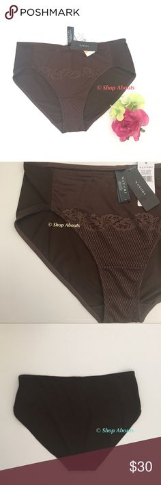 Natori Smooth Scroll Bikini Brief Panty  Truffle Smooth Scroll bikini  panty in color Truffle by Natori, Style 753095  New with tags! Retails $30/$32 with tax  Fine mesh with leafy lace at front panel Back in smooth microfiber Body:  Nylon/Spandex Gusset: 100% Cotton Hand wash   Looking for matching Smooth Scroll bra in Truffle  take a peek at my other listings! Natori Intimates & Sleepwear Panties