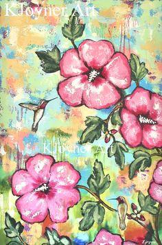 Hummingbird Art Painting by Kendra Joyner