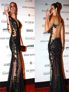 Celebrity Dresses 2015 New Arrival Lace Beaded Luxurious Mermaid Open Sexy See through sheer Party Dresses Beads Applique Tulle