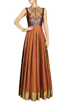 Paithani style maxi dress******ZARAH******* Like our page https://www.facebook.com/zarahclothing/ **********************************************************