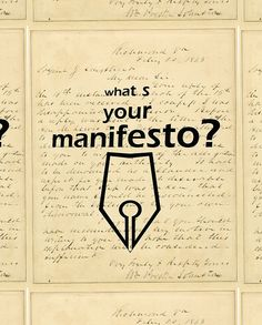 'What s your Manifesto? What do you stand for?/ Bigger than life' Travel Mug by Ioan Rosca Nastasescu