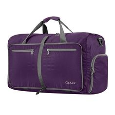 c4aae00934 BEST Packable 80L Travel Bags | Large Nylon Duffle Luggage Suitcase | Folds  into Small Square