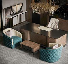 Office Cabin Design, Small Office Design, Office Furniture Design, Office Interior Design, Office Interiors, Modern Interior, Home Office Cabinets, Study Room Design, Luxury Office