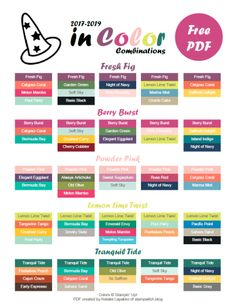 Stampin' Up! 2017-2019 In Color Combinations PDF by Natalie Lapakko