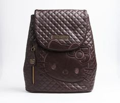 Hello Kitty Real Leather Mini Backpack Brown Quilt OMG!!!!!!!!! I WANT THIS