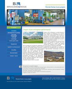 Site vitrine de la société Brocard & Roux à Devecey.  Administration sur-mesure des actualités. www.brocardroux.com