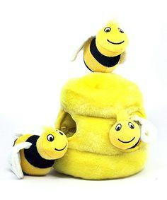 Outward Hound Kyjen 31010 Hide A Bee Dog Toys Interactive Plush Squeak Toy, Large, Yellow Cute Dog Toys, Best Dog Toys, Pet Toys, Dog Puzzles, Puzzle Toys, Welsh, Dog Toys Amazon, Bee Dog, Corgi