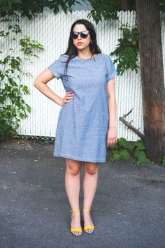 Made in Essic linen, the Inari Tee dress in linen // Named sewing pattern // Closet Case Files Winter Wardrobe, Summer Wardrobe, Named Clothing, Colored Denim, Tee Dress, Dressmaking, Clothing Patterns, Tees, Refashion