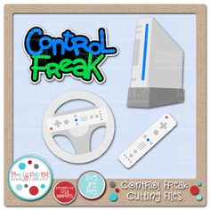 Video Game Cutting Files - great for scrapbooking, card making and crafts for gamers.