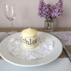How to make personalised candles, perfect as wedding favours as they also double up as place names!