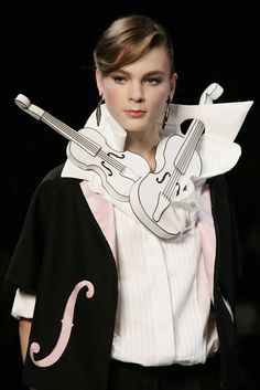Music is in the air as Viktor and Rolf go girly for Paris Fashion Week