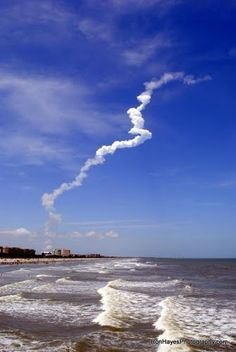 When we lived in Cocoa beach, Florida we used to watch the Space Shuttle Launch. We were there when the one blew up as well.