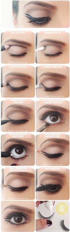 The usage of double eyeliner application, this make their eyes appear bigger and more charming.