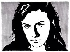 """Courtney sketch.  Pen and Copic markers for Altar of Waste records, """"Bling Ring: a reinterpretation."""""""
