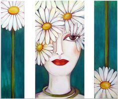 Karina Chavin Fabric Painting, Painting & Drawing, Wal Art, Arte Pop, Art Themes, Naive Art, Woman Painting, Fractal Art, Female Art