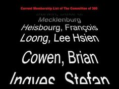 ▶ Current Membership List of The Committee of 300 - Benjamin Fulford - YouTube