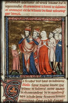 Daniel proves Susanna's innocence  - Click photo for more images - National Library of the Netherlands