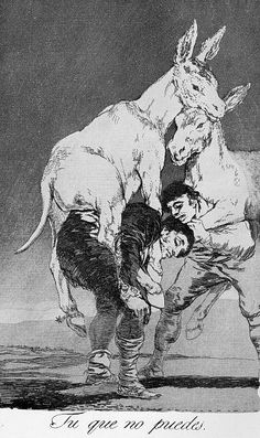 Francisco Goya, Thou who cannot, Los Caprichos no. 42