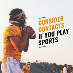 BECAUSE SWEAT CAN cause damage to coatings on frames and lenses, consider wearing contacts when playing sports! #lifestyle #loveyourface #flagstaffeyecare #flagstaffoptometrist #eyes