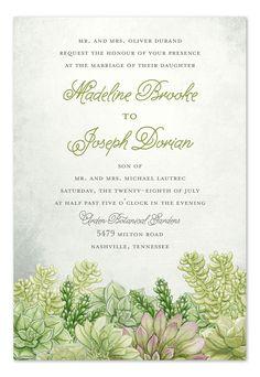 'Sweet Succulents' wedding invitation Invitation Consultants #rustic
