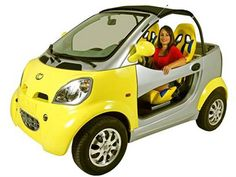 Kandi Coco Convertible Neighborhood Electric Vehicle Car Pure electric start and drive, this sweet ride is perfect for neighborhood, beach, campground and course driving!