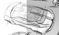 Turning 10 Trends in Design into the Car of The Future Car of the Future - Panoramic RoofCar of the Future - Panoramic Roof Car Interior Sketch, Car Design Sketch, Design Thinking, Blueprint Art, Industrial Design Sketch, Sketch Markers, Future Car, Future Tech, Hand Sketch
