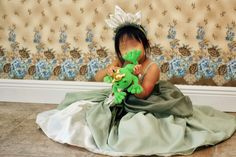 The latest addition to Momo's princess dress collection is...the Princess Tiana Dress!   We took Momo to her first Disney cruise vacati...