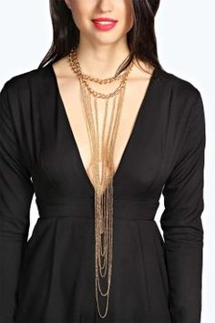 Bethan Statement Multi Chain Necklace